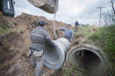 Trabajos hídricos en distintos sectores de la ciudad