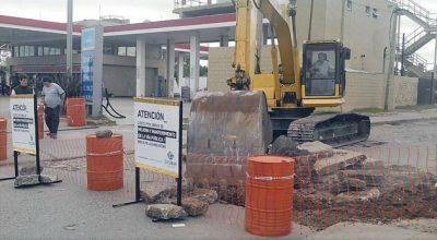 Comenzaron la repavimentación de la calle Santiago del Estero en Garín