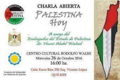 Charla del Embajador de Palestina en la ciudad de Quilmes