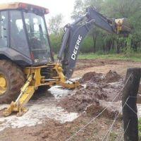 Asisten a las familias afectadas por el temporal en Dupuy, pero el clima no ayuda