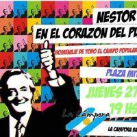 Agrupaciones locales recordar�n a Kirchner en el 6to. Aniversario de su fallecimiento
