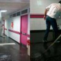 Se inund� un pasillo del Centro de Salud al colapsar un sistema de desag�e