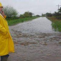 Inundaciones: el gobernador de La Pampa recorri� la zona norte de su provincia
