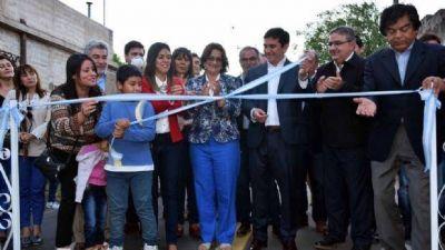 Corpacci inauguró obras de asfalto e iluminación en FME