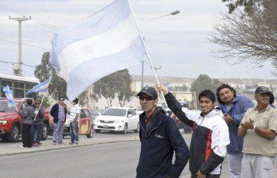 Guilford: ayer hubo una manifestación en la ruta