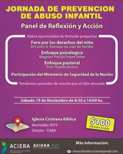 ACIERA organiza una Jornada de Prevención de Abuso Infantil