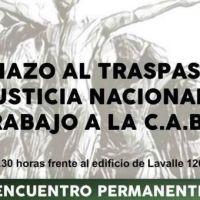 Rechazo al traspaso de la Justicia Nacional del Trabajo a la Ciudad