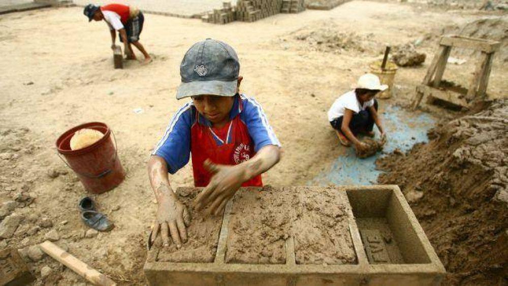 Ladrilleros, contra el trabajo infantil