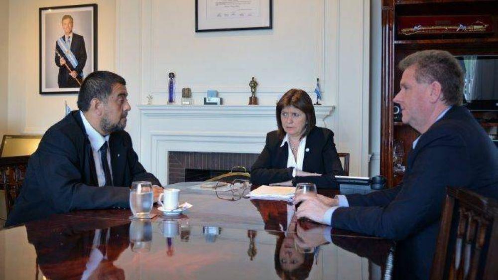 Bullrich se reunió con González y acordaron operativos conjuntos