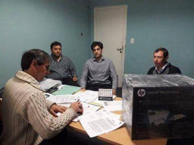 Harispe firmó convenio por colocación de semáforos con la UTN