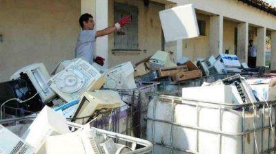 Para fin de año, se descartarán 30 toneladas de basura electrónica