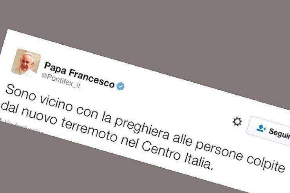 El Papa reza por los afectados en un nuevo terremoto en Italia