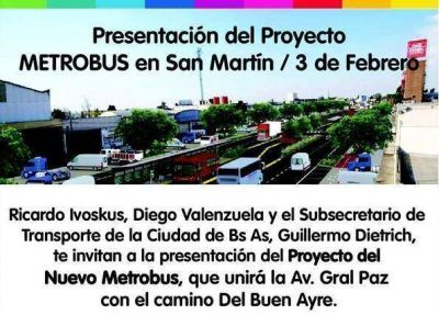 Metrobús en Ruta 8: Macri le hace