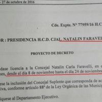 Faravelli pide licencia y el Concejo Deliberante quedar�a en manos del Frente Renovador