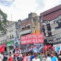 Organizaciones sociales marcharon para pedir que se declare la emergencia social