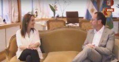 Vidal se reunió con el intendente de Carlos Casares