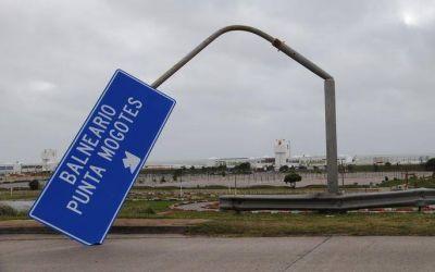 Vientos de más de 90 km/h provocaron serios daños en distintos sectores de Mar del Plata