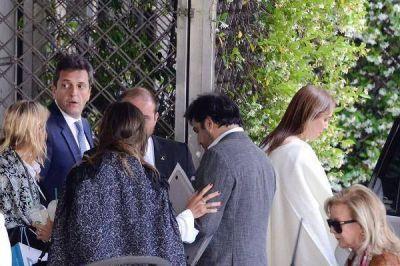 Vidal se reunió con Sergio Massa en un hotel de Buenos Aires por el Presupuesto y otros temas