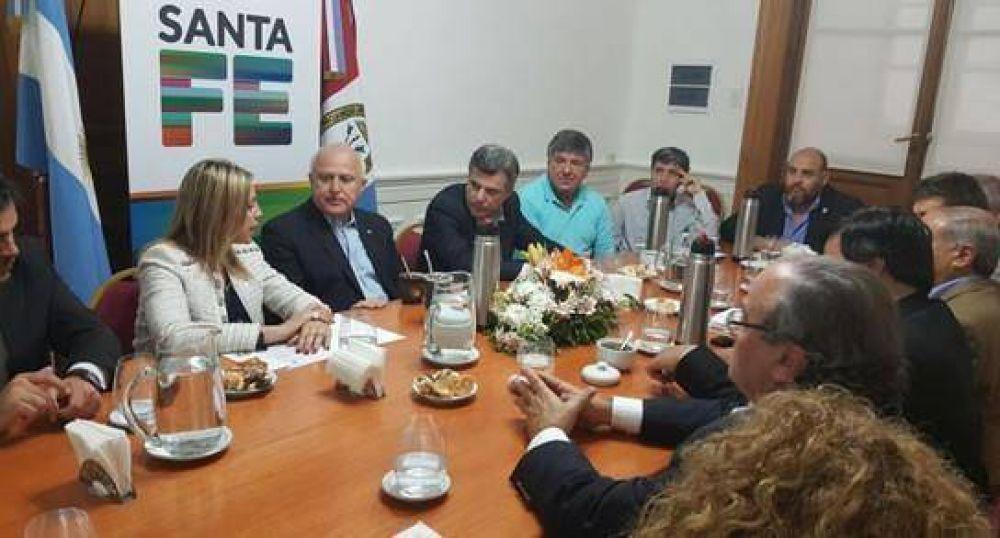 Reunión de intendentes del sur provincial con Lifschitz
