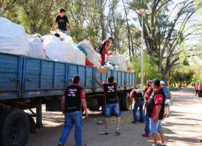El Garrahan se llevó de San Luis casi veinte toneladas de tapitas