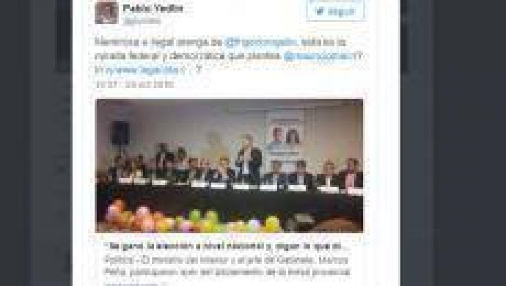 Pablo Yedlin tildó de mentiroso a Frigerio en Twitter y encendió la polémica