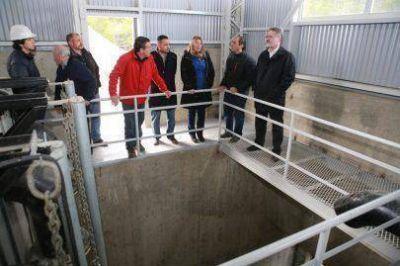 Bertone puso en funcionamiento la nueva planta potabilizadora de agua en el Valle del Río Pipo