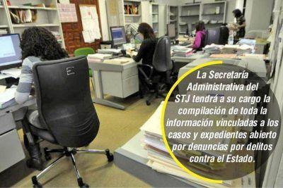 STJ reglamentó el registro de causas por delitos contra el Estado
