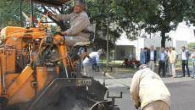 Comienzan los trabajos de repavimentación en la diagonal Juan XXIII