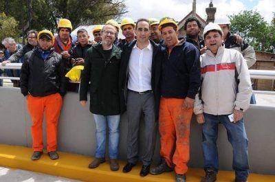 Tagliaferro y Valenzuela inauguraron el túnel Matienzo en El Palomar
