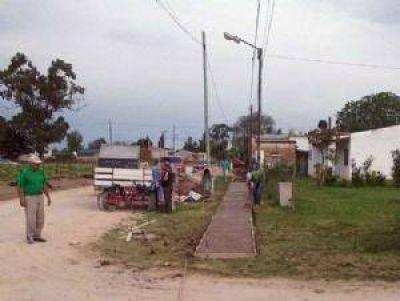 Se ejecuta la construcción de varias veredas de la ciudad