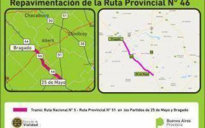 Provincia repavimentará las rutas provinciales 46 y 60