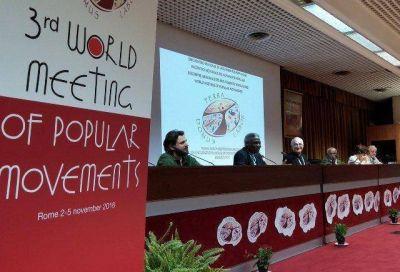 Movimientos populares se reúnen en el Vaticano con los ejes tierra, techo y trabajo
