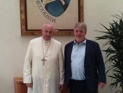 Gustavo Vera se reunió con el Papa y hablaron de narcotráfico, refugiados y esclavitud
