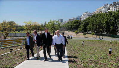 "Larreta inauguró la nueva Plaza Brasil: ""Es un paso enorme"""