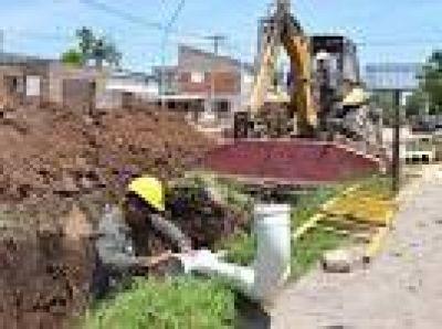 Santo Tomé: Amplían la red cloacal del barrio Lourdes
