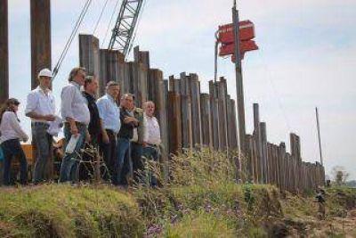 Peppo recibe a funcionarios nacionales que llegan para verificar avances en las obras del Puerto Las Palmas