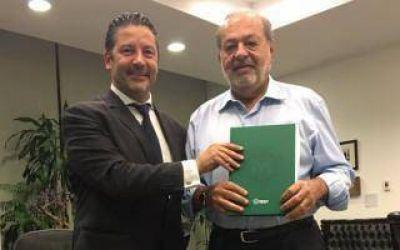El Intendente de Merlo se reunió con el empresario Carlos Slim en México
