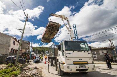 Despejaron de chatarra y basura un sector de Facundo Quiroga