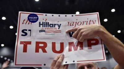 Frenético cierre de campaña de Hillary y Trump
