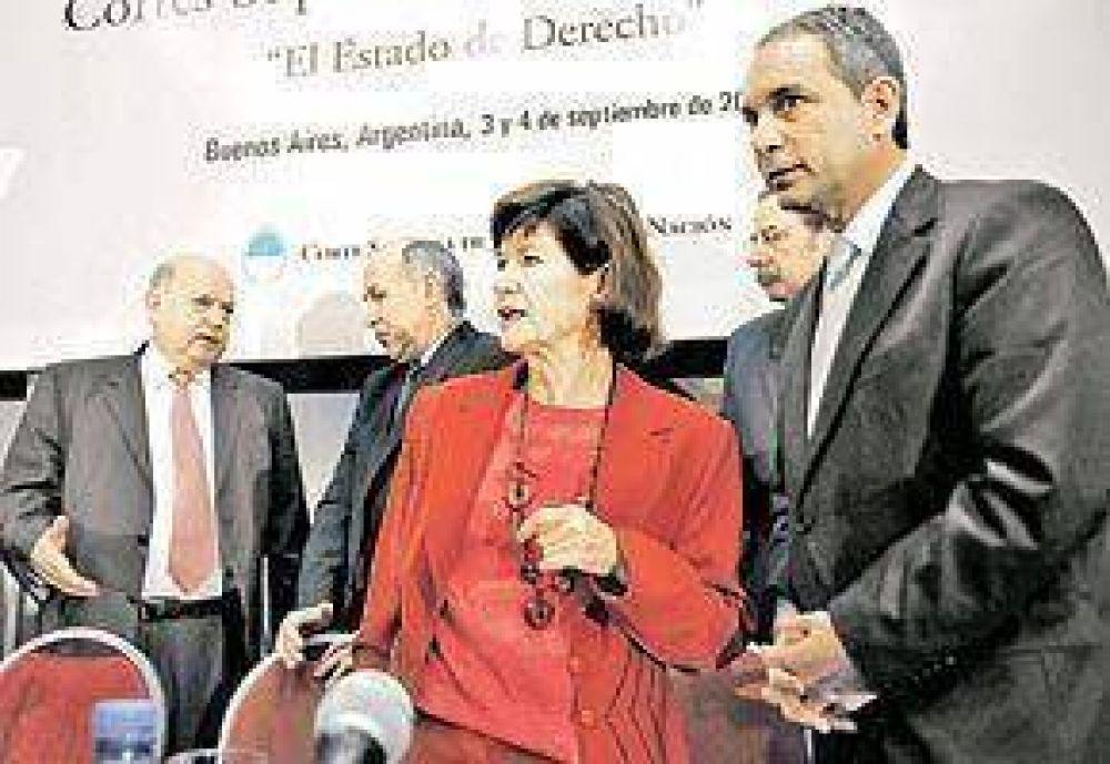 Lorenzetti y el titular de la OEA, por la libertad de prensa