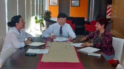 Reunión de Gobierno con la intendenta de Juan Jorba