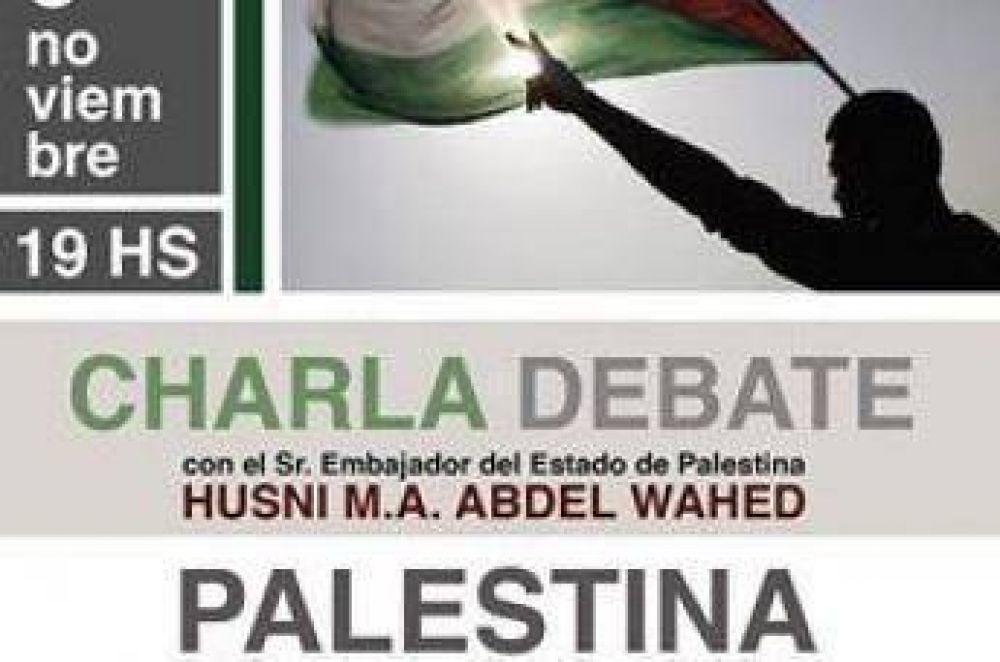 Charla y debate con el embajador del Estado de Palestina en La Plata