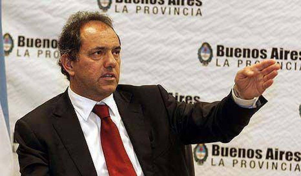 """Scioli defendió la partida de Monzó: """"Las políticas provinciales las fijo yo"""""""