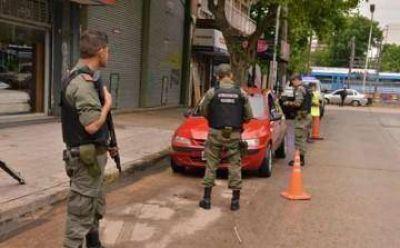 Llegaron 150 nuevos gendarmes a Echeverría