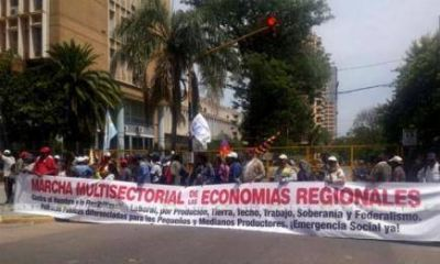 Organizaciones sociales se manifestarán nuevamente contra las políticas económicas