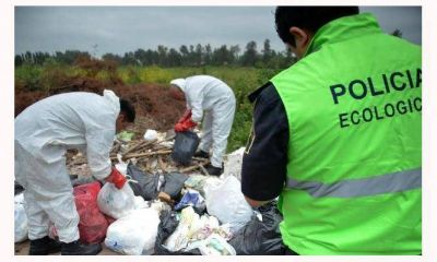 Detectaron vuelcos de residuos patológicos en la colectora