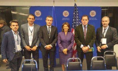 Pampín participó como observador de las elecciones de Estados Unidos