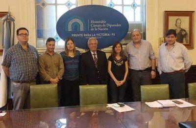 Dirigentes de APDFA fueron recibidos en la Cámara de Diputados por Héctor Recalde