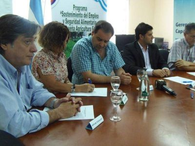 Firmaron convenio para la continuidad del Programa de Sostenimiento del Empleo y Seguridad Alimentaria