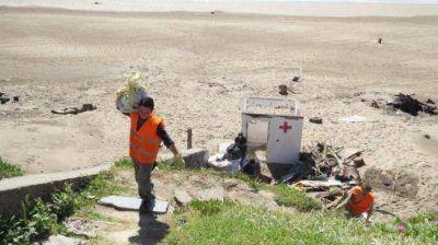 El municipio retiró más de 6 toneladas de basura de una playa
